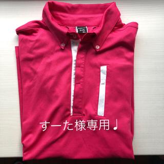 オークリー(Oakley)のオークリー メンズゴルフシャツ サイズXL ピンク(ウエア)