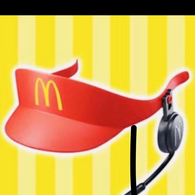 マクドナルド(マクドナルド)のなりきりマクドナルド クルーサンバイザー エンタメ/ホビーのおもちゃ/ぬいぐるみ(キャラクターグッズ)の商品写真