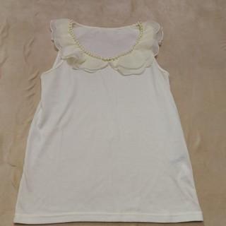 ジエンポリアム(THE EMPORIUM)のジエンポリアムのパールW衿タンク! (カットソー(半袖/袖なし))