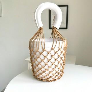 L'Appartement DEUXIEME CLASSE - STAUDスタウド カゴバッグ メッシュレザーバッグ