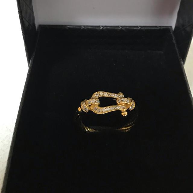 馬蹄リング☆ホースシュー指輪☆シルバーアクセサリー14号15号ゴールド☆GOLD メンズのアクセサリー(リング(指輪))の商品写真