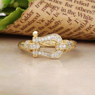 馬蹄リング☆ホースシュー指輪☆シルバーアクセサリー18号19号ゴールド☆GOLD(リング(指輪))