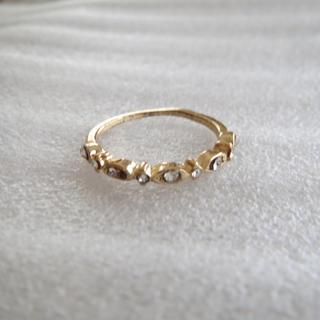 №019  ゴールド×ビジュー リング(リング(指輪))