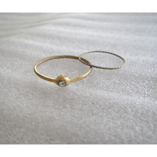 №020  ゴールドリング 2本セット(リング(指輪))