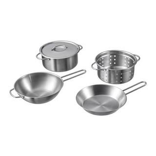 IKEA - IKEA イケア おもちゃ 調理器具 5点セット ステンレス おままごと 鍋