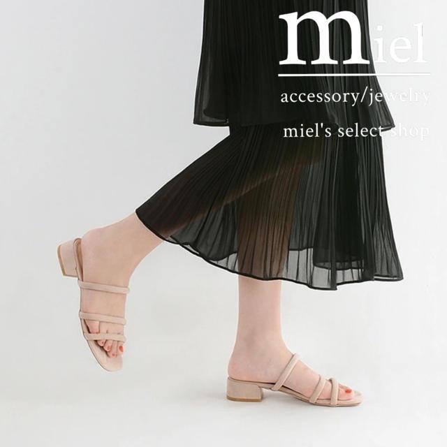Mila Owen(ミラオーウェン)の《3colour》VELVET SANDAL 2019/ベルベットサンダル レディースの靴/シューズ(サンダル)の商品写真