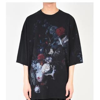 ラッドミュージシャン(LAD MUSICIAN)のラッドミュージシャン  花柄スーパービックTシャツ  黒 19SS (Tシャツ/カットソー(半袖/袖なし))