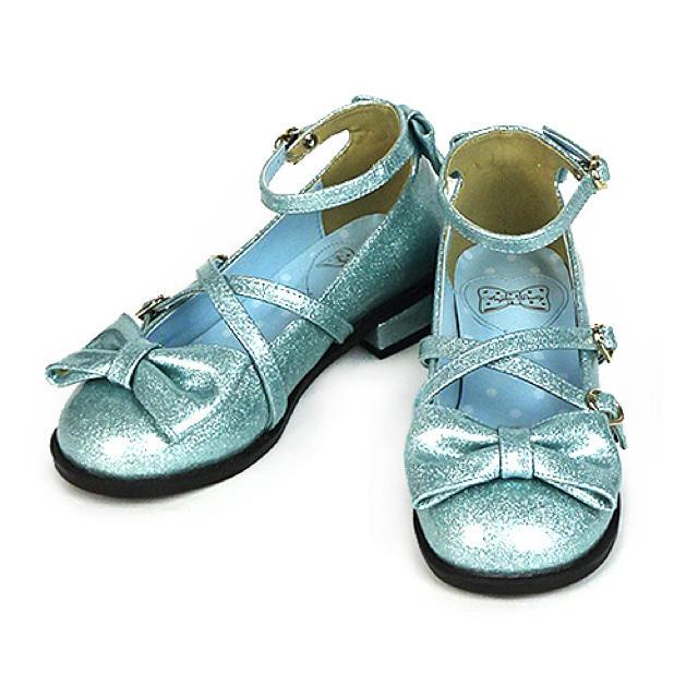 Angelic Pretty(アンジェリックプリティー)のトゥインクルシューズ サックス レディースの靴/シューズ(ハイヒール/パンプス)の商品写真