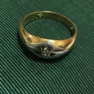 17号 7.1g k18 pt850 ダイヤモンド リング 18金 プラチナ(リング(指輪))