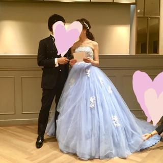 ♡YNSウェディング くすみブルー カラードレス♡