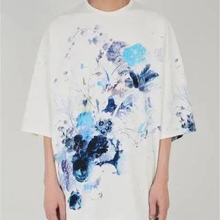 ラッドミュージシャン(LAD MUSICIAN)のラッドミュージシャン  花柄スーパービックTシャツ 白 19SS 新品未使用(Tシャツ/カットソー(半袖/袖なし))