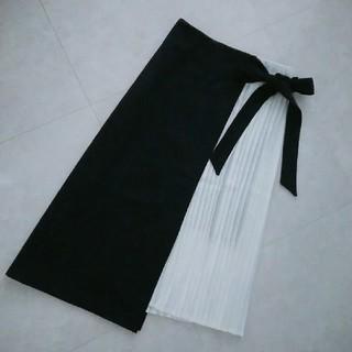エイミーイストワール(eimy istoire)のスカート プリーツ ネイビー(ひざ丈スカート)