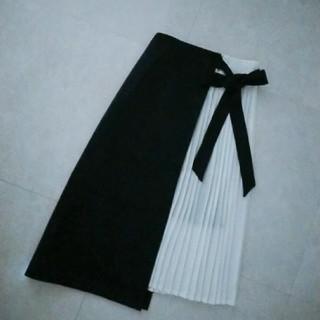 エイミーイストワール(eimy istoire)のスカート プリーツ ブラック(ひざ丈スカート)
