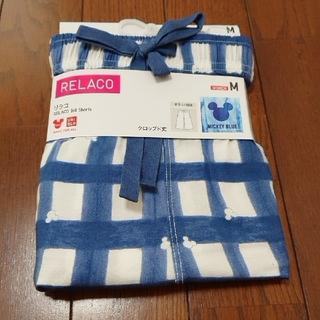 ユニクロ(UNIQLO)の【未使用】ユニクロ リラコ MICEY BLUE(ルームウェア)