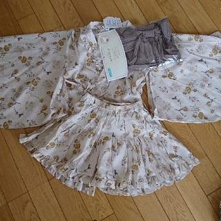 フタフタ(futafuta)のテータテート 浴衣ドレス 甚平 花柄(甚平/浴衣)