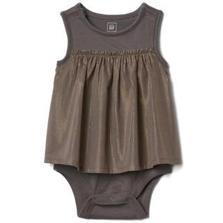 babyGAP - タグ付 シマーストライプタンクトップ ダブルボディ スカート付ボディ