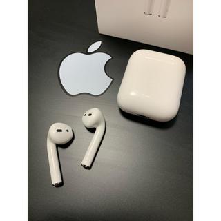 Apple - Apple純正ワイヤレスイヤホン AirPods 保証有 送料無料 美品