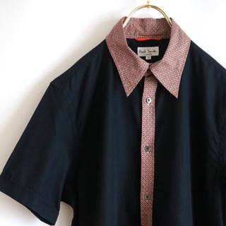Paul Smith - 【PAUL SMITH】美品 幾何学模様 半袖シャツ 黒☆