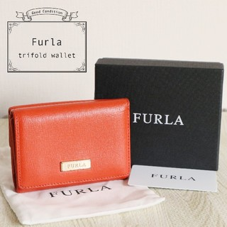 フルラ(Furla)の美品 FURLA ロゴ 三つ折り コンパクト 財布(財布)