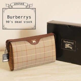 バーバリー(BURBERRY)のBurberrys 未使用 90's デッドストック 正規品 クラッチ バッグ(クラッチバッグ)