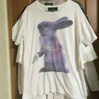 ミルクボーイ(MILKBOY)のMILKBOY ミルクボーイ tシャツ ウサギ 白(Tシャツ/カットソー(半袖/袖なし))