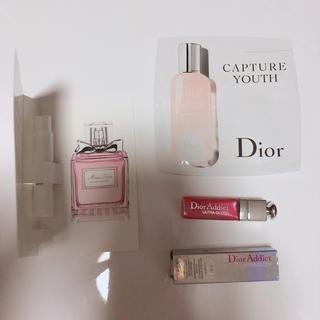ディオール(Dior)のdior ミニグロス 化粧品 香水 サンプル(リップグロス)