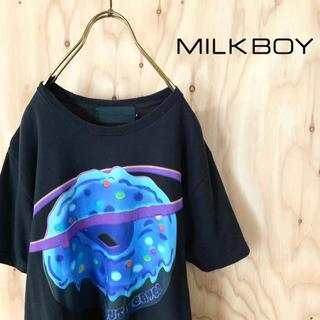 ミルクボーイ(MILKBOY)の【人気完売アイテム】MILK BOY ビッグドーナツ プリント tシャツ 原宿系(Tシャツ/カットソー(半袖/袖なし))