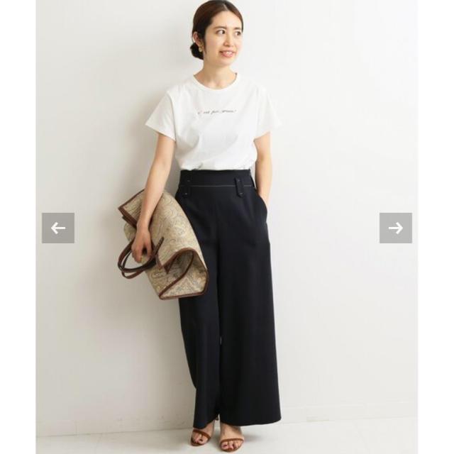 IENA(イエナ)のIENA イエナ cest pas grave Tシャツ ホワイト レディースのトップス(Tシャツ(半袖/袖なし))の商品写真
