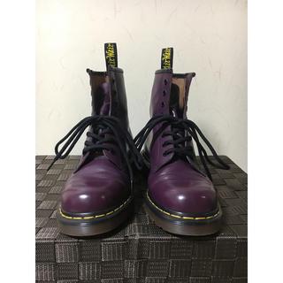 ドクターマーチン(Dr.Martens)のドクターマーチン 8ホール ブーツ パープル(ブーツ)