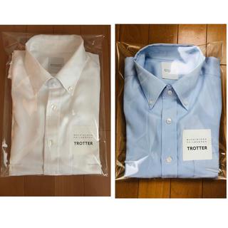 マッキントッシュフィロソフィー(MACKINTOSH PHILOSOPHY)のトロッター 半袖シャツ 2色セット(白、水色)(シャツ)