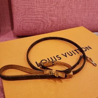 ルイヴィトン(LOUIS VUITTON)のヴィトン小型犬 首輪&リード(リード/首輪)