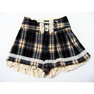リズリサ(LIZ LISA)のリズリサ チェック柄キュロットスカート ショートパンツ スカパン(キュロット)