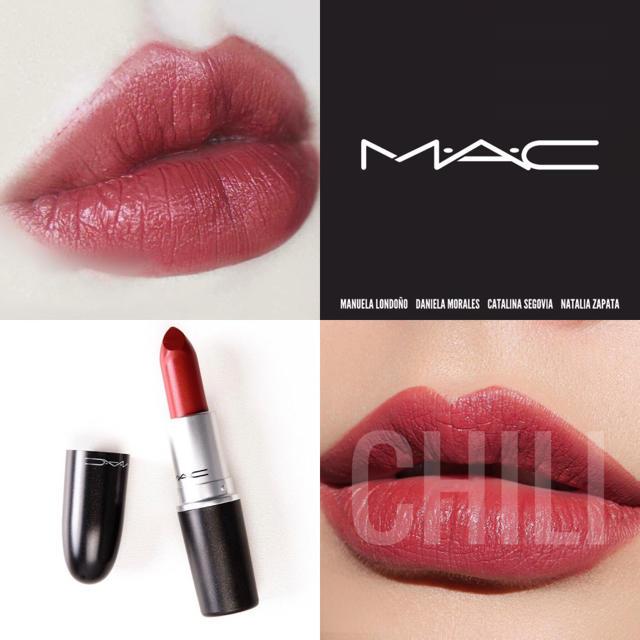 MAC(マック)の【新品箱有】MAC マットリップ 人気色 チリ ウォームブリックレッド♥ コスメ/美容のベースメイク/化粧品(口紅)の商品写真