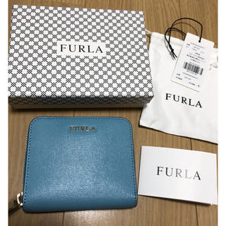 フルラ(Furla)の新品未使用 FURLA フルラ バビロンSラウンドジップウォレット ターコイズ(財布)