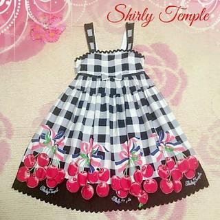 Shirley Temple - ♡1042♡シャーリーテンプル✨♡チェリー ギンガム✨ジャンスカ♪✨130cm♡