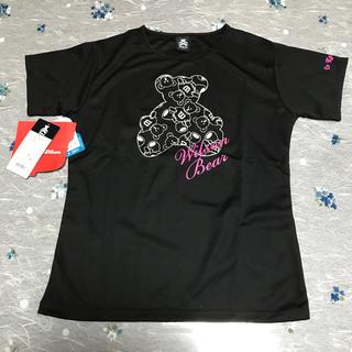 wilson - ウィルソンベアー  Wilson Tシャツ 黒 Sサイズ テニス 婦人 半袖クマ