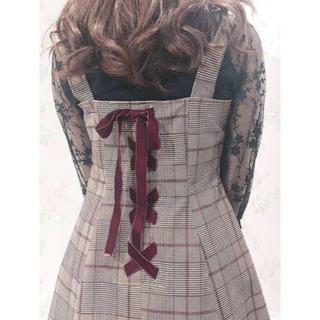 着るだけで可愛いレースアップリボンワンピース♡女の子らしいキュートなデザイン♡
