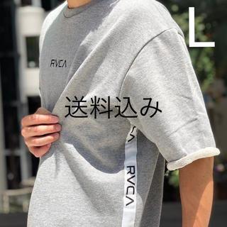 ルーカ(RVCA)の【L】RVCA ルーカ SMALL RVCA CREW 半袖スウェット グレー(Tシャツ/カットソー(半袖/袖なし))