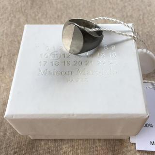 マルタンマルジェラ(Maison Martin Margiela)の19AW新品S マルジェラ ツートーン シグネットリング オーバル 今期(リング(指輪))