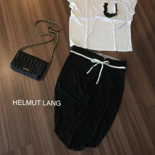 ヘルムートラング(HELMUT LANG)の美品☆HELMUT LANG  サルエルハーフパンツ  S  ブラック(ハーフパンツ)
