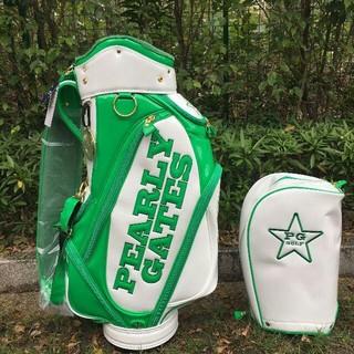 PEARLY GATES パーリーゲイツ キャディバッグ ゴルフ 白緑
