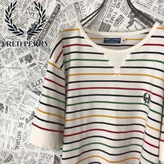 フレッドペリー(FRED PERRY)のフレッドペリー FLED PERRY Tシャツ ボーダーカットソー ワッペンロゴ(Tシャツ/カットソー(半袖/袖なし))