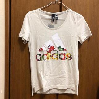 adidas - adidas Tシャツ 花柄 新品 タグ付き