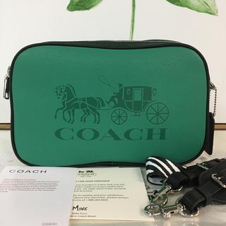 COACH - コーチCOACH✿JESロゴクロスボディ長財布OKショルダー✿グリーンGreen