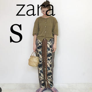 ZARA - 希少 S 新品未使用 ザラ プリント柄 カジュアルパンツ