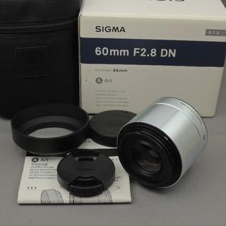 SIGMA - シグマ マイクロフォーサーズ60mmF2.8DN(A)シルバー
