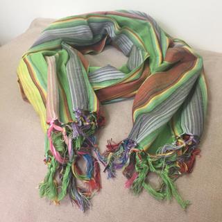 titicaca - ストール  ストライプ エスニック春夏らしい色柄 インド製 新品美品