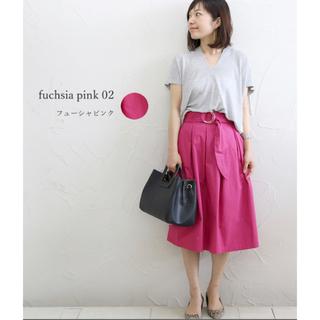 シマムラ(しまむら)の未使用 リボンベルト付きスカート(ひざ丈スカート)