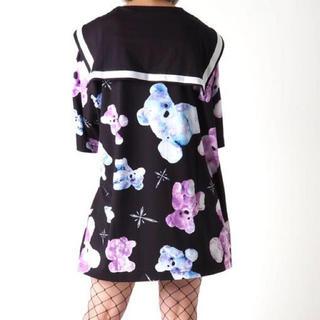 ミルクボーイ(MILKBOY)のTRAVAS TOKYO セーラー襟 くま総柄 Tシャツ(Tシャツ(半袖/袖なし))
