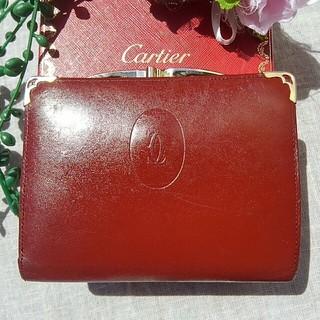 カルティエ(Cartier)のCartier マストライン がま口 ボルドー(財布)